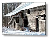 Abandoned Barn / Rustic Winter Landscape/ Ready to Hang Wall Art/ Fine Art Photo ~ CANVAS WRAP PRINT