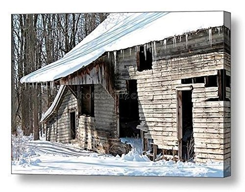 Abandoned Barn Rustic Winter Landscape Ready To Hang Wall Art Fine Photo