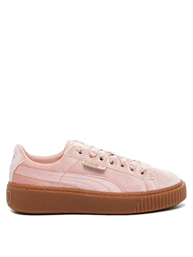 50% off top-rated real limited price Amazon.com | PUMA Womens Pink/Gum Velvet Basket Platform ...
