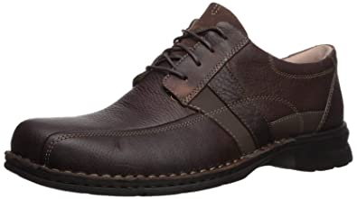 876be92ece271 CLARKS Men's Espace Oxford, Brown Oily Leather, ...