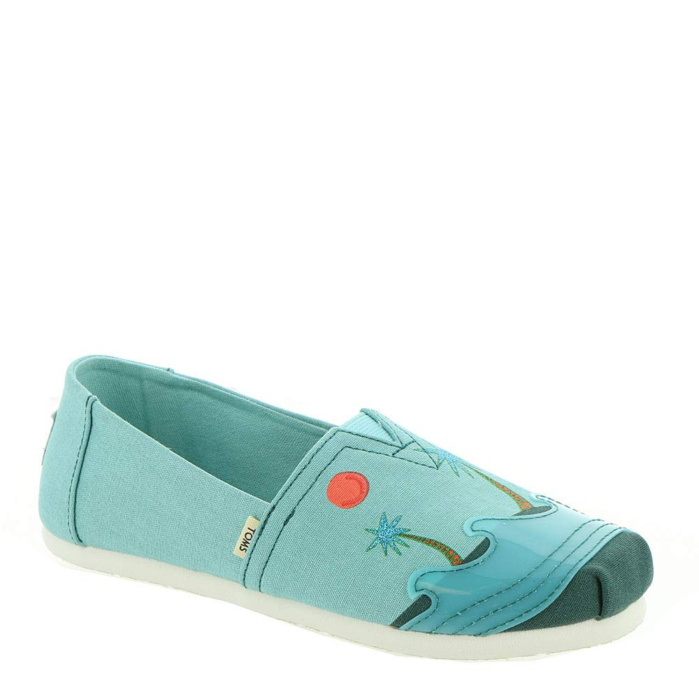 TOMS Kids Girl's Alpargata (Little Kid/Big Kid) Turquoise Sunrise/Translucent 1 M US Little Kid