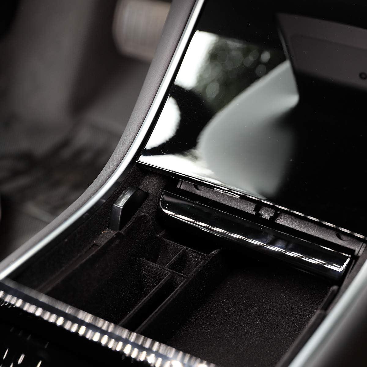 in Materiale Floccato Scatola portaoggetti per Console Centrale Tesla Model 3 per Tenere Gli Oggetti in Auto ordinatamente conservati Si abbina Perfettamente al Modello Originale T-ZAIH