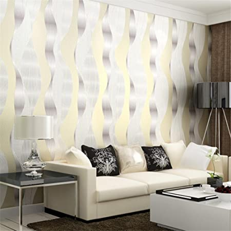 Simple 3D Video Wall Striped Wallpaper Wallpaper Living Room TV
