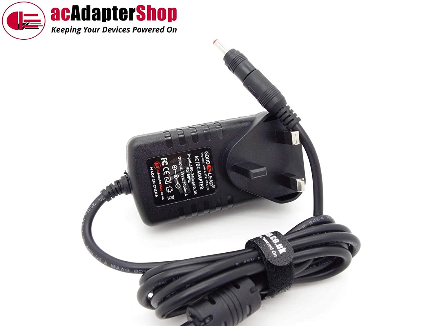 GOOD LEAD 15V 1000mA Replacement AC Adaptor model HR1501000 to Charge Jump Start Pack