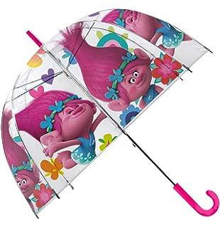 Kids Trolls Paraguas Clásico, 66 cm, Rosa