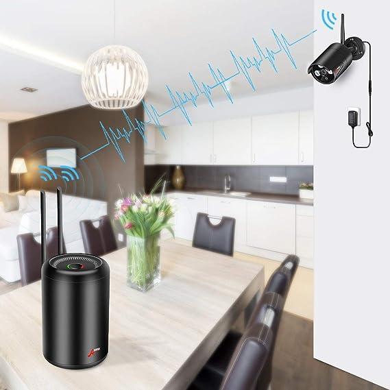 Kit Cámaras de Vigilancia WiFi para el Hogar, ANRAN 1080P Kit Cámaras IP CCTV Inalambrico 8CH Sistema de Videovigilancia con 8Pcs Cámaras IP de Seguridad y ...