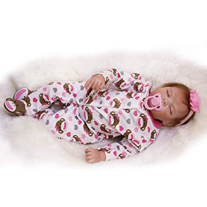 d8a6f0677ede Amazon.com  HAPPY Otarddolls 22 inch 55cm Realistic Rebirth Doll ...