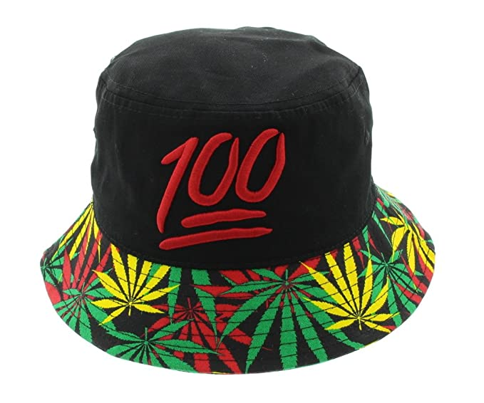 a9b7a48bffa Keep It 100 All Over Print Mary Jane Weed Bucket Hat at Amazon Men s  Clothing store
