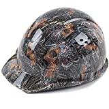 RK Safety RK-HP34-SKULL Hard Hat Cap Style with 4 Point Ratchet Suspension, 1EA (Skull)