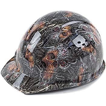 RK Safety RK-HP34-SKULL Hard Hat Cap Style with 4 Point Ratchet Suspension 12506fe18f8b