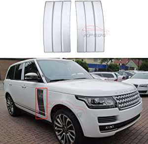 n\a Fit for Land Rover Range Rover 2013 2014 2015 2016 2017 2018 2019 2020 2021 ABS Side Vent Grille Mesh Grill Silver