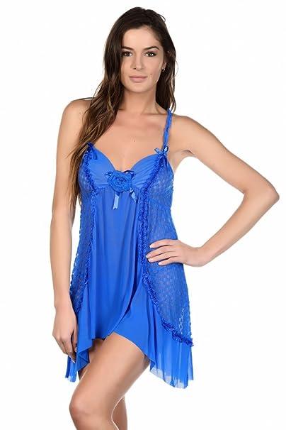 Just For Victoria - Conjunto de lencería - para mujer azul XL