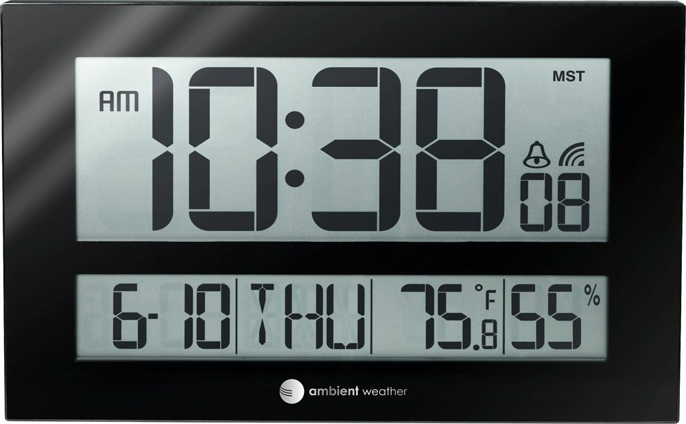 Amazon Ambient Weather Rc 8461 Jumbo Atomic Digital Wall Clock