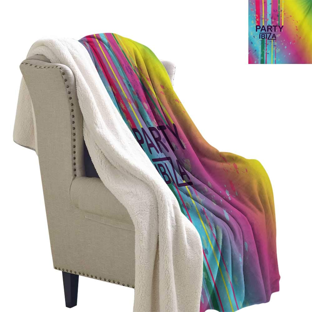 Amazon.com: Michaeal Ibiza Cozy Flannel Blanket 60x32 Inch ...