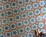 Maison Floral Tile Stencil - Painting Stencils for