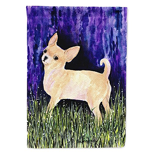 Chihuahua Garden Flag - Caroline's Treasures SS8514GF Starry Night Chihuahua Flag, Small, Multicolor