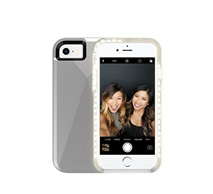more photos 167b3 e9617 Amazon.com: Incipio LUX Brite for iPhone 8 & iPhone 7, Silver ...