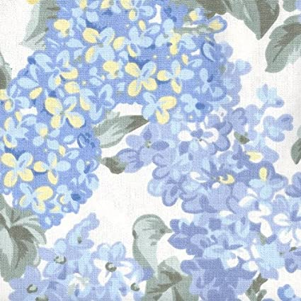 Amazon Com Ellis Curtain Hydrangea Floral Print Tailored Valance 70 Inch By 12 Inch Home Kitchen