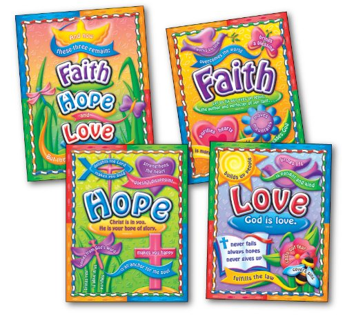 Carson Dellosa Christian Faith, Hope, and Love Bulletin Board Set (210004)