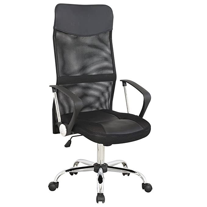 Miadomodo - Silla de oficina de altura ajustable - color negro: Amazon.es: Hogar