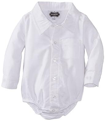 64fa1001a Amazon.com  Mud Pie Boys  Baby Newborn Oxford Button Down Crawler ...
