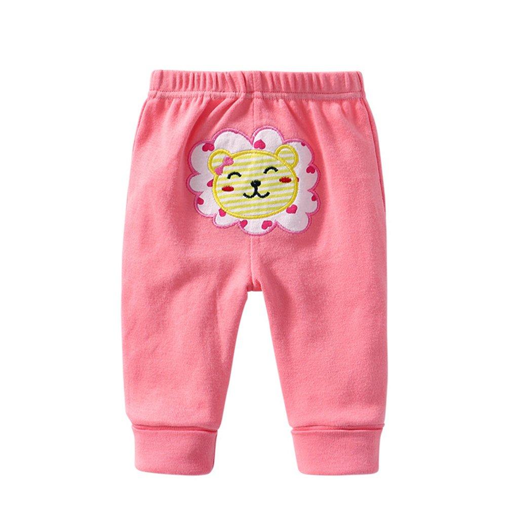 MeterMall Unique Style 5PCS Baby Fashion PP Pants Cartoon Animal Printing Cotton Baby Trousers Kid Wear Baby Pants boy Modes Random 24M