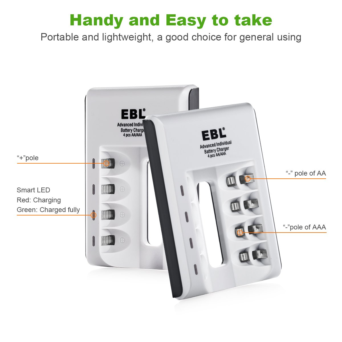 Ebl Individual Smart Battery Charger For Aa Aaa Ni Mh Die Hard Wiring Diagram Cd Rechargeable Batteries Home Audio Theater
