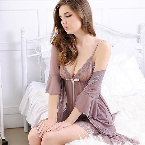 Pijamas de Sexy Vestido de Encaje Encaje Falda Transparente de ...