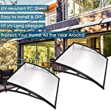 """Best Awnings - Yescom 2 Sets 39""""x39"""" Outdoor Clear Door Window Review"""