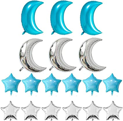 Big Crescent Moon Shape Foil Balloon Home Baby Shower Decor Wedding Birthday USA