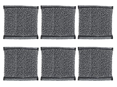 Gala Black Dish Washing Kitchen Super Scrub - Scouring Pads Extra Durable (Pack Of 6)