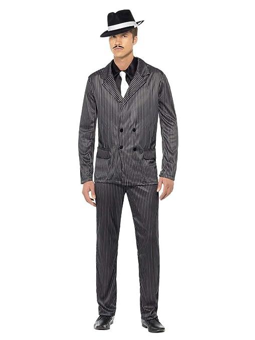 Da uomo adulto 1920s anni Gangster Gangsta Bugsy Malone Great Gatsby  Costume Travestimento  Amazon.it  Giochi e giocattoli e965e6e084e