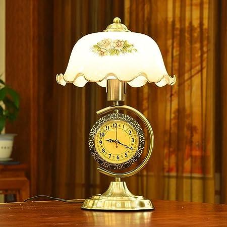 SSG Home Lámpara de Mesa con Dormitorio Reloj de cabecera de la ...