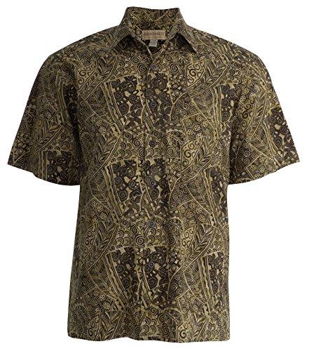 Johari West Coral Cascade Tropical Hawaiian Batik Shirt