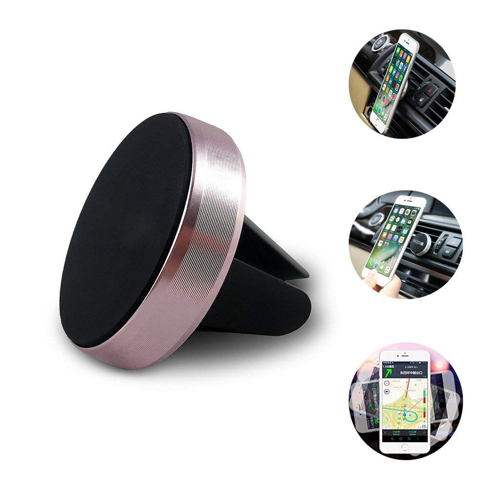 Rose Gold Car Mount Mobile Phone Bracket Stand Air Vent Magnetic Cell Phone Holder Magnetic Car Phone Holder