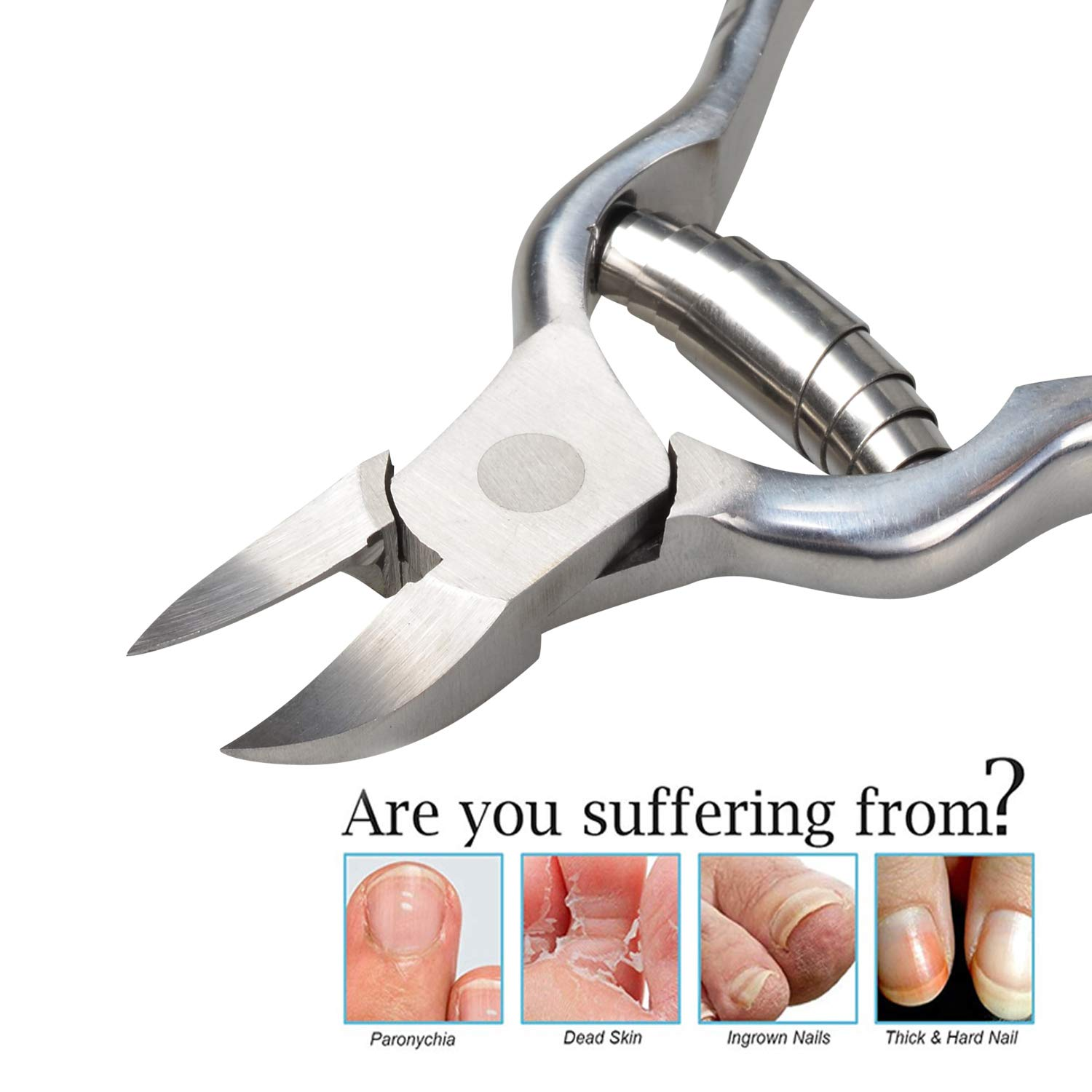 ISOTO Nail Clipper for Thick Nails Heavy Duty Toenail Clipper Nipper Thick Nails,Long Jaw, Long Handle