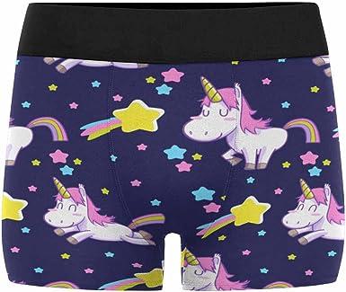 XS-3XL InterestPrint Boxer Briefs Mens Underwear Cute Cartoon Unicorns