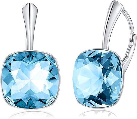 SILVEGO Damen Ohrringe aus 925 Sterling Silber mit Swarovski