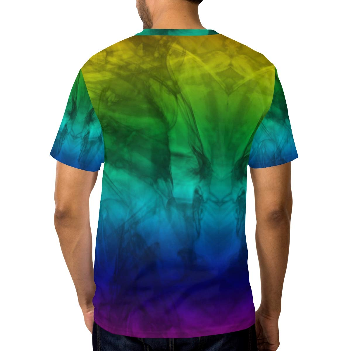 9de6dc00df494 Jonassk Woolffk Marble Fade Color Men's Short Sleeve T-Shirt Royal Blue T- Shirt Men's Workwear Pocket Short Sleeve T-Shirt Men's Round Neck T-Shirt  ...