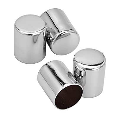 Amazicha 4 PCS Chrome Docking Hardware Cover Kit for Harley Road King Street Glide 2009-2020: Automotive