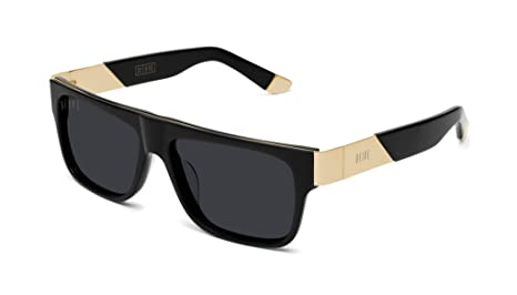 Amazon.com: Gafas de sol 9FIVE 22 de color negro y oro de 24 ...