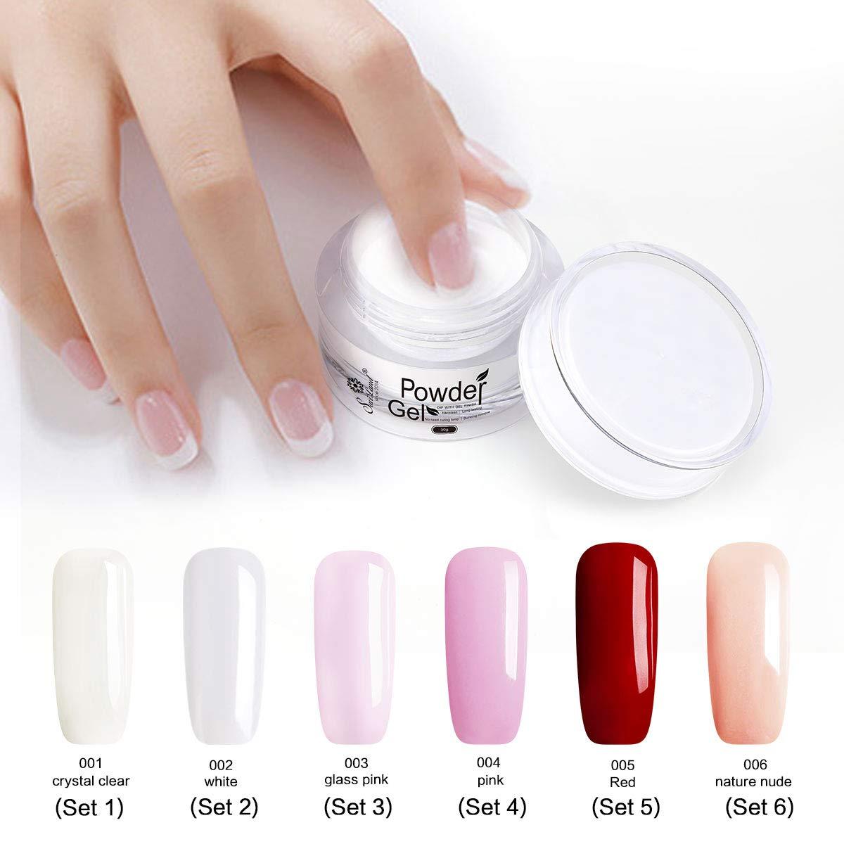 Saviland Dip Powder Nails, Natural Artificial Nail Manicure Without Lamp Cure(PINK)