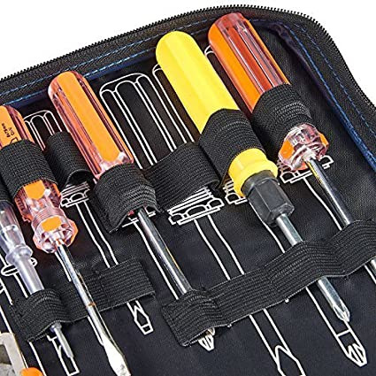 Babimax Multifuncional Bolso de Herramientas Port/átil con Cremallera Oxford Resistente al Desgaste Impermeable Ideal para Electricista