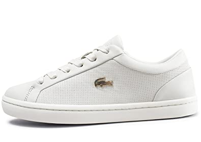 6f82f736f2 Lacoste Woman Straightset Sneaker White: Amazon.fr: Chaussures et Sacs