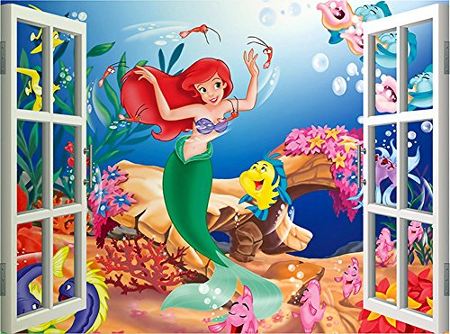 Howsoperfect The Little Mermaid Removable Kids Room Wall Dec