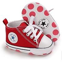 Zapatillas de Lona Estilo Urbano con Suela Blanda Antideslizante Primeros Pasos para Bebés de 6 a 18 Meses (12 a 13 cm…