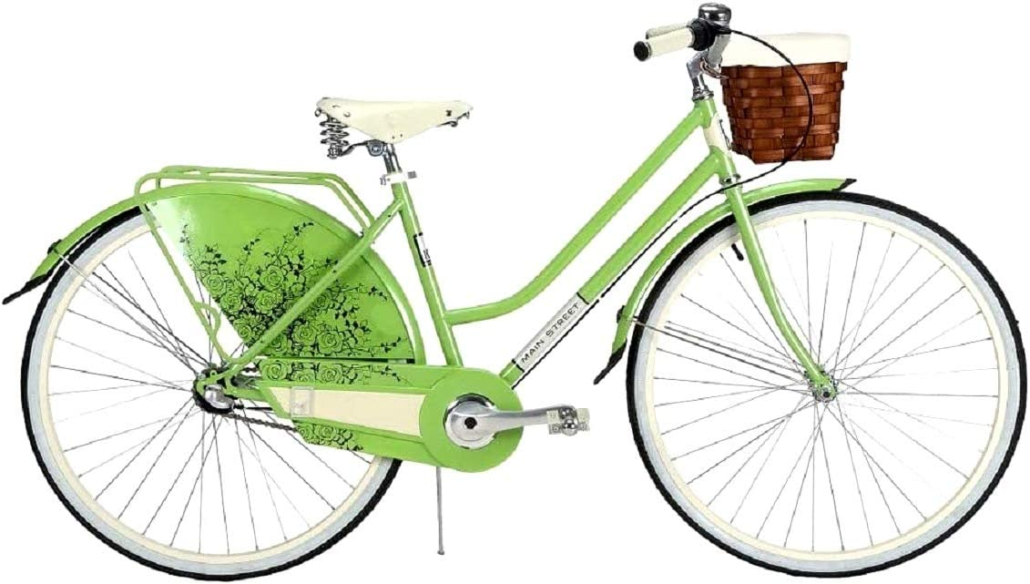 Huffy Main Street Hybrid Bike for Men and Women's Bicycle Seville 28'' Inch Wheels 700C Cruiser 3 Speed Adult Lightweight 36974