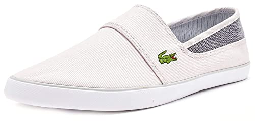 26308dbec Lacoste Marice 318 1 CAM Canvas Slip Ons Trainers in Light   Dark Grey  736CAM0051 2G2
