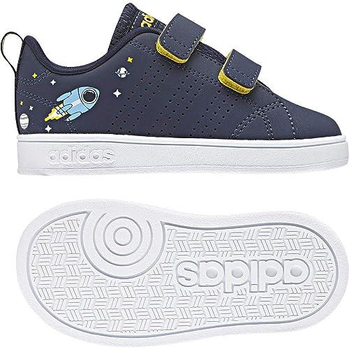 reputable site 45c9b 7c2da adidas Unisex Kids Vs Advantage Clean CMF Low-Top Sneakers, Blue (Conavy