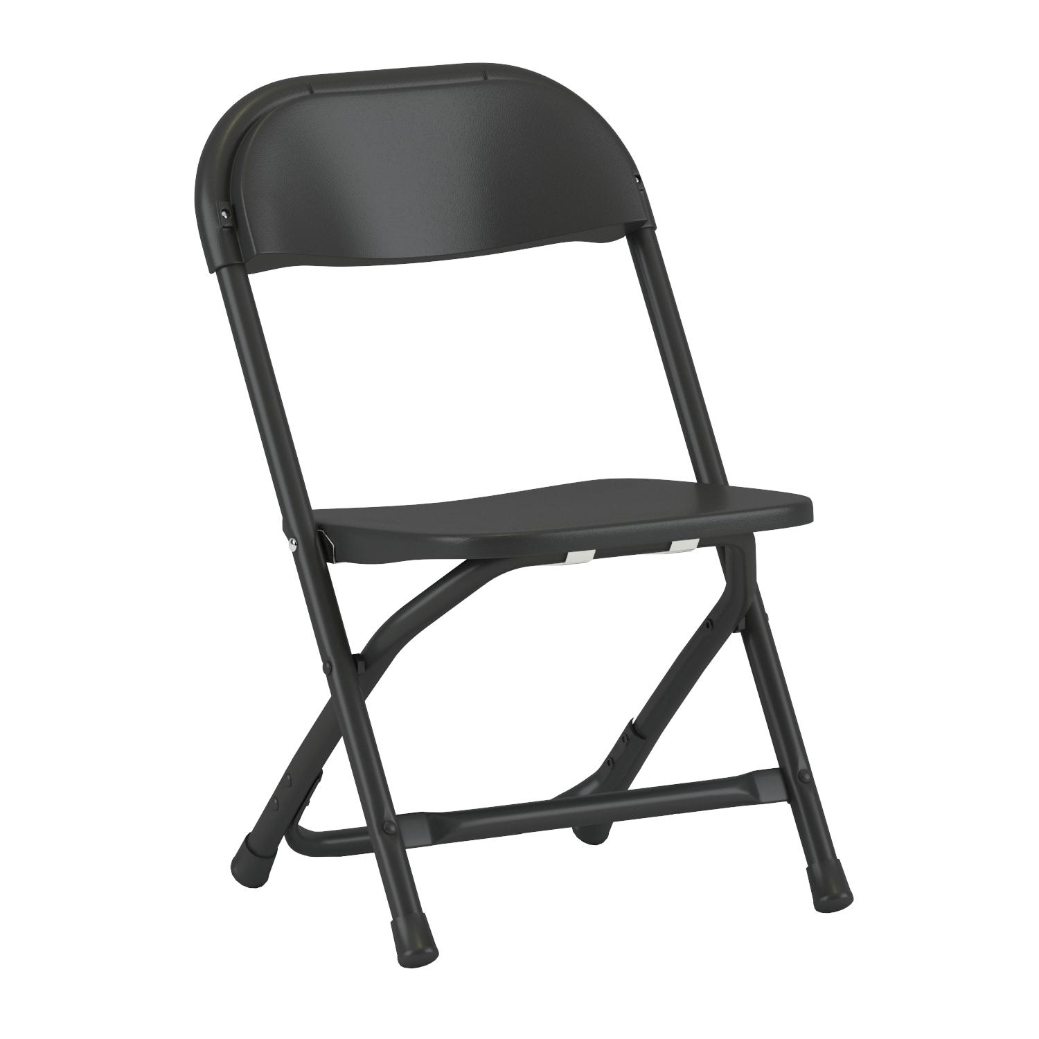 Amazon Flash Furniture Kids Black Plastic Folding Chair